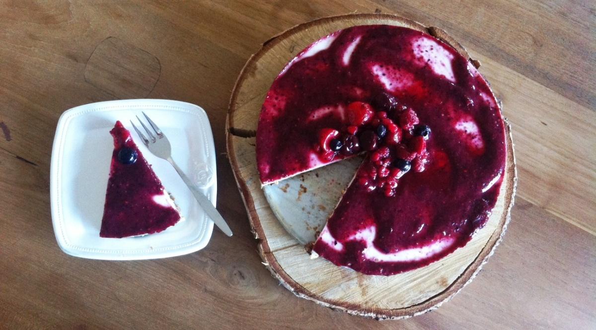 Gluten- en suikervrije cheesecake/kwarktaart