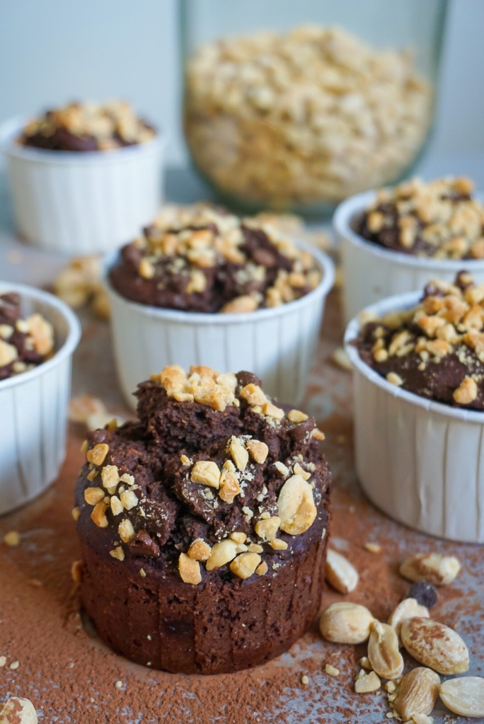 Glutenvrije pinda brownie muffins