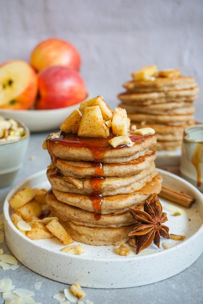 Glutenvrije  appeltaart pannenkoeken